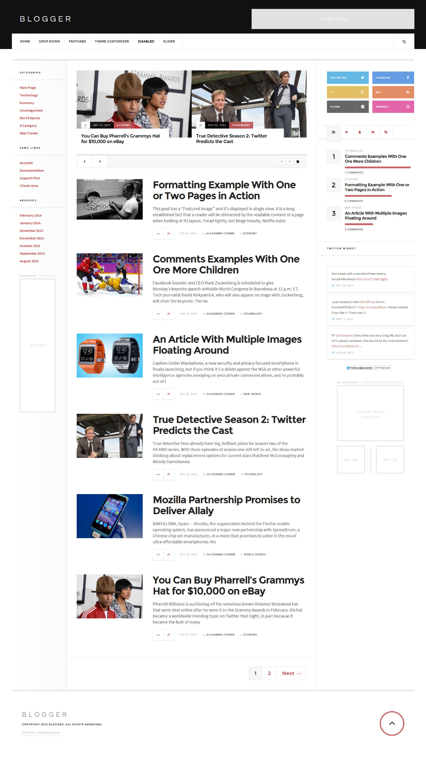 AcosminBlogger WordPress Theme